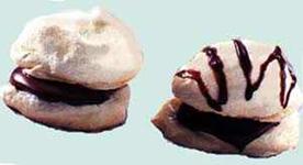 Peppermint Meringue Sandwich Cookies