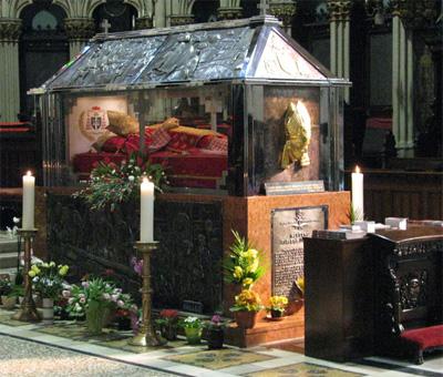 The Tomb of Cardinal Alojzije Stepinac in the Zagreb Cathedral