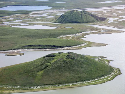 Pingos near Tuktoyaktuk, Northwest Territories, Canada - Author Emma Pike