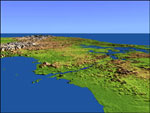 Click here for bigger topographic image of Panama Canal
